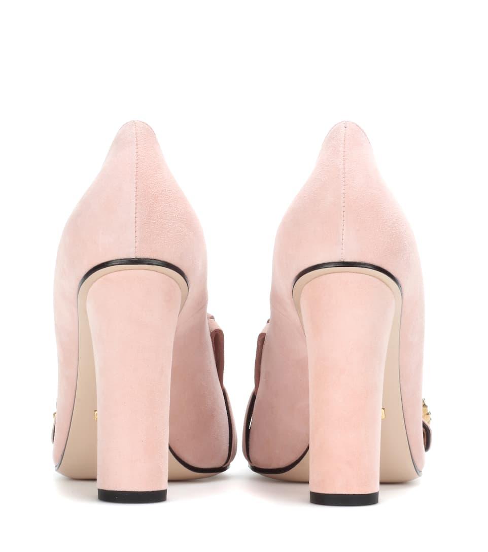 Rabatt Footlocker Finish Gucci Verzierte Loafer-Pumps aus Veloursleder Suche Zum Verkauf Große Diskont Verkauf Online Schlussverkauf zEFVj4smG6