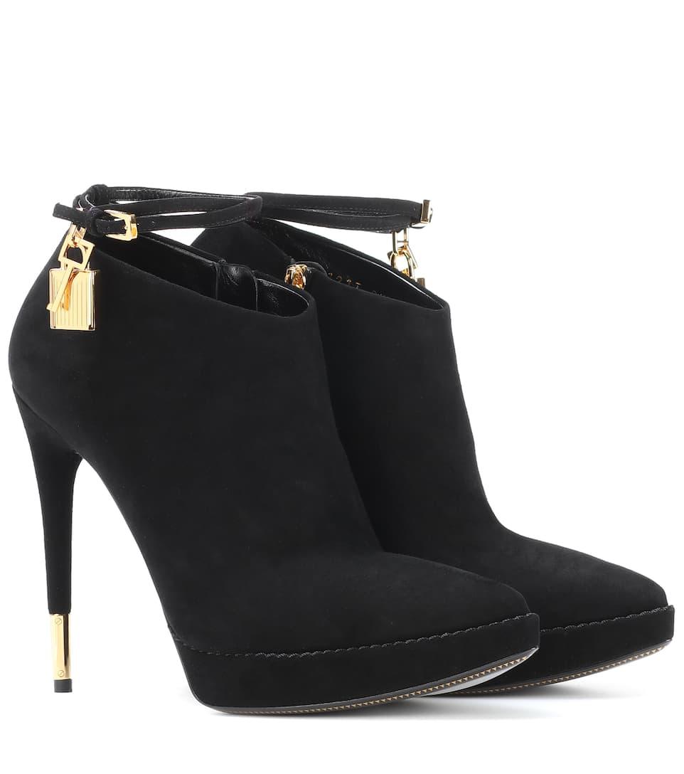 Tom Ford Embellished suede boots black Popular Cheap Online kOLhz