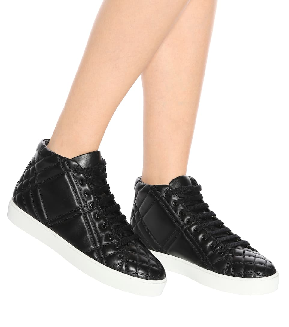 Burberry High-Top-Sneakers aus Leder