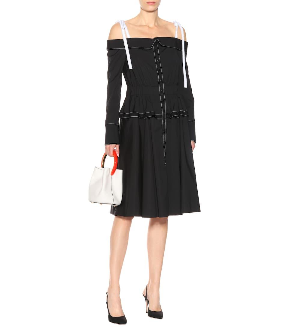 Carolina Herrera Off-Shoulder-Kleid aus Baumwolle Freier Versandauftrag 1M6p2KC8K