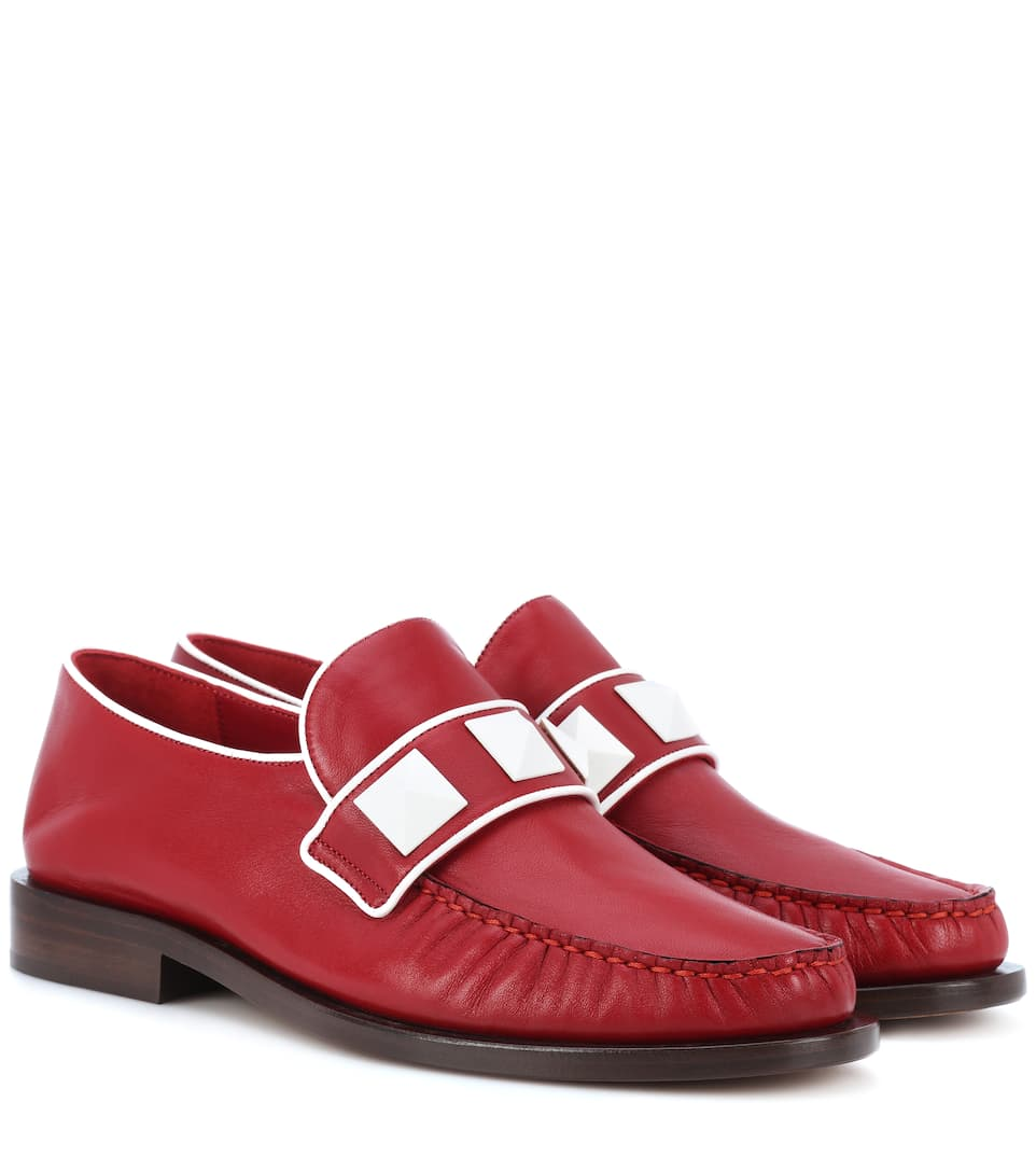 LOCK LEATHER LOAFERS