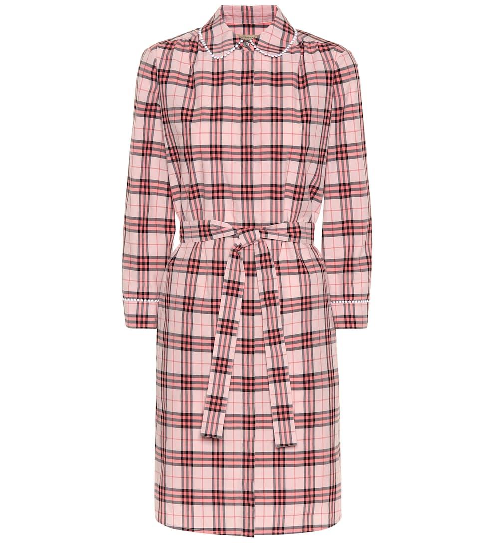 Burberry Kariertes Hemdblusenkleid aus Baumwolle