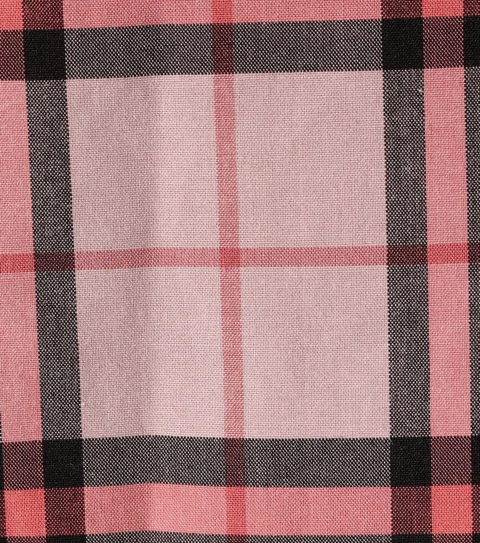 Burberry - Robe en coton à carreaux