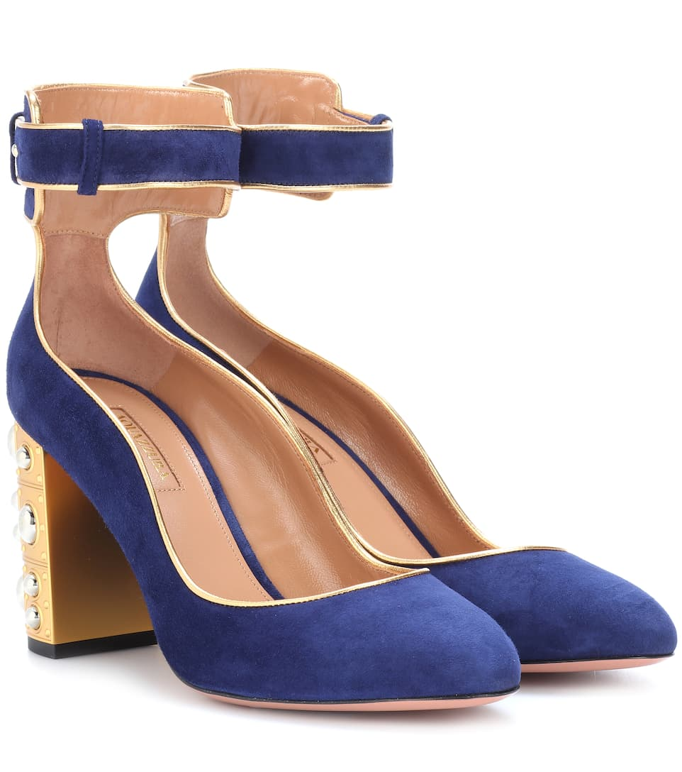 Aquazzura Sandals Lucky Star 85 From Suede