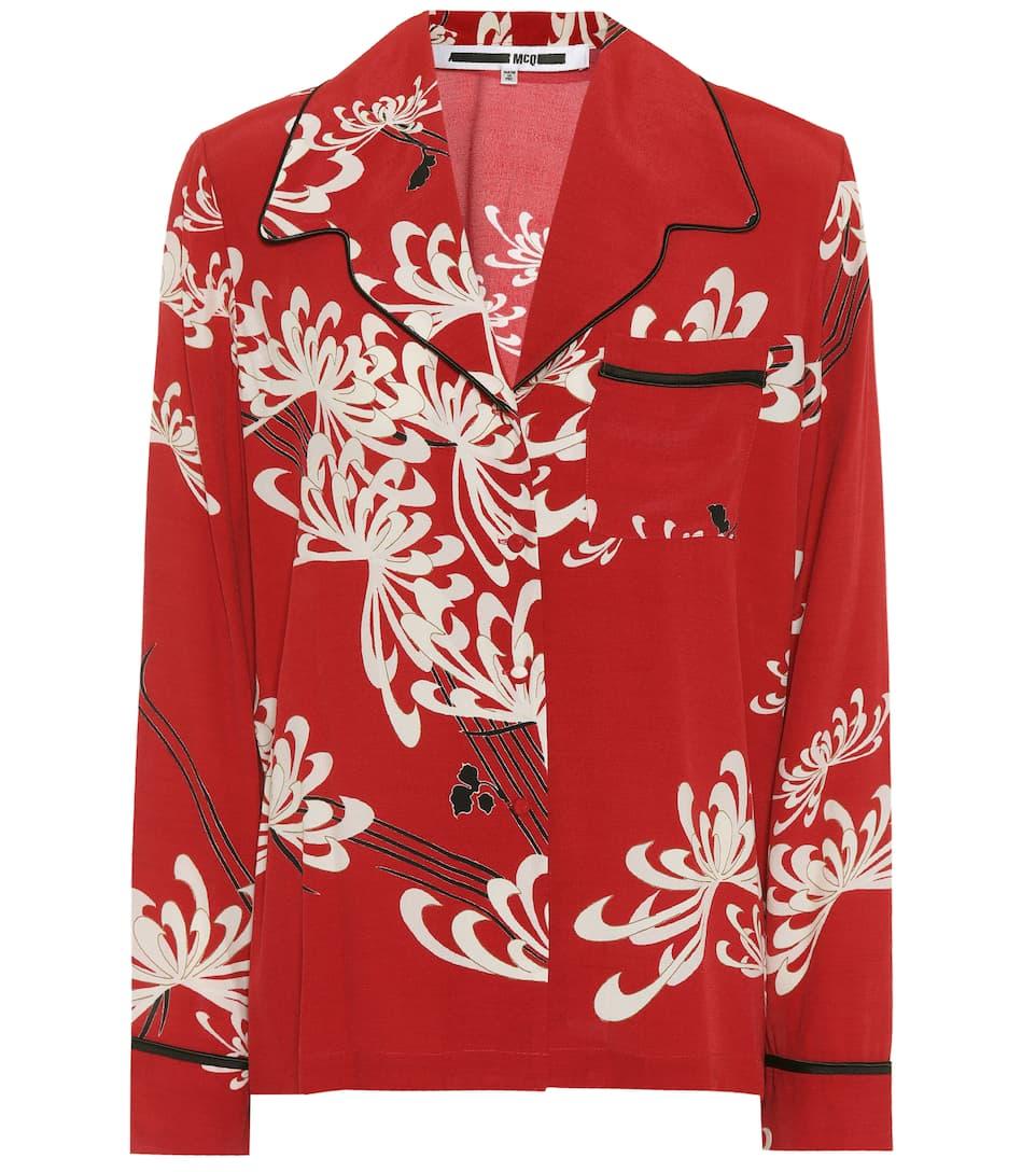 McQ Alexander McQueen Bedruckte Bluse Günstig Kaufen Preis Günstig Kaufen Die Besten Preise Auslass Bestseller Spielraum Footlocker Finish 84fG2mqqKR