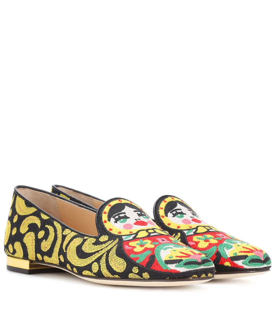 Charlotte Olympia Bestickte Loafers Matrioska