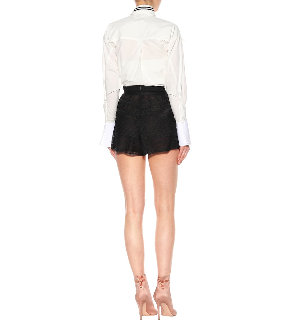Free Shipping Get To Buy Philosophy Di Lorenzo Serafini Lace shorts Nero Sale Websites Brand New Unisex Cheap Price Outlet Sale Online Latest Collections vDa1D