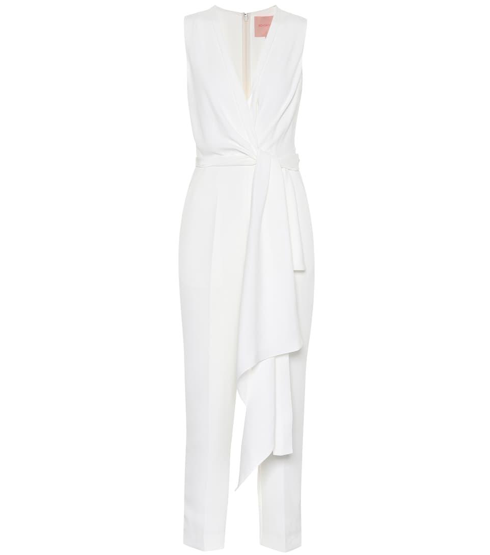 Rokuro Bridal Silk-Blend Jumpsuit in White