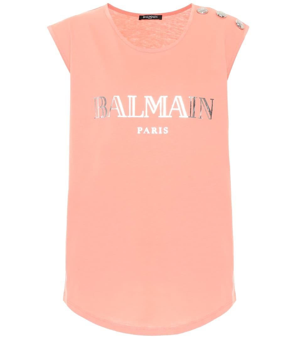 Embellished Cotton T Shirt by Balmain