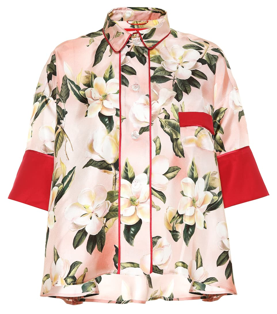 920bf9b3c1 F.R.S For Restless Sleepers - Pistis Plumeria silk pajama shirt ...