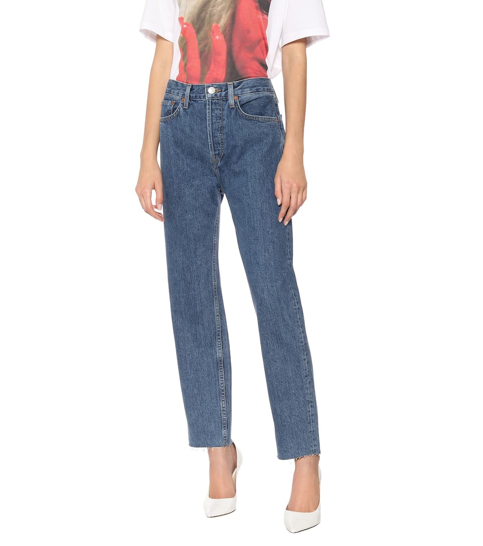 Re/Done - Stove Pipe high-rise straight jeans