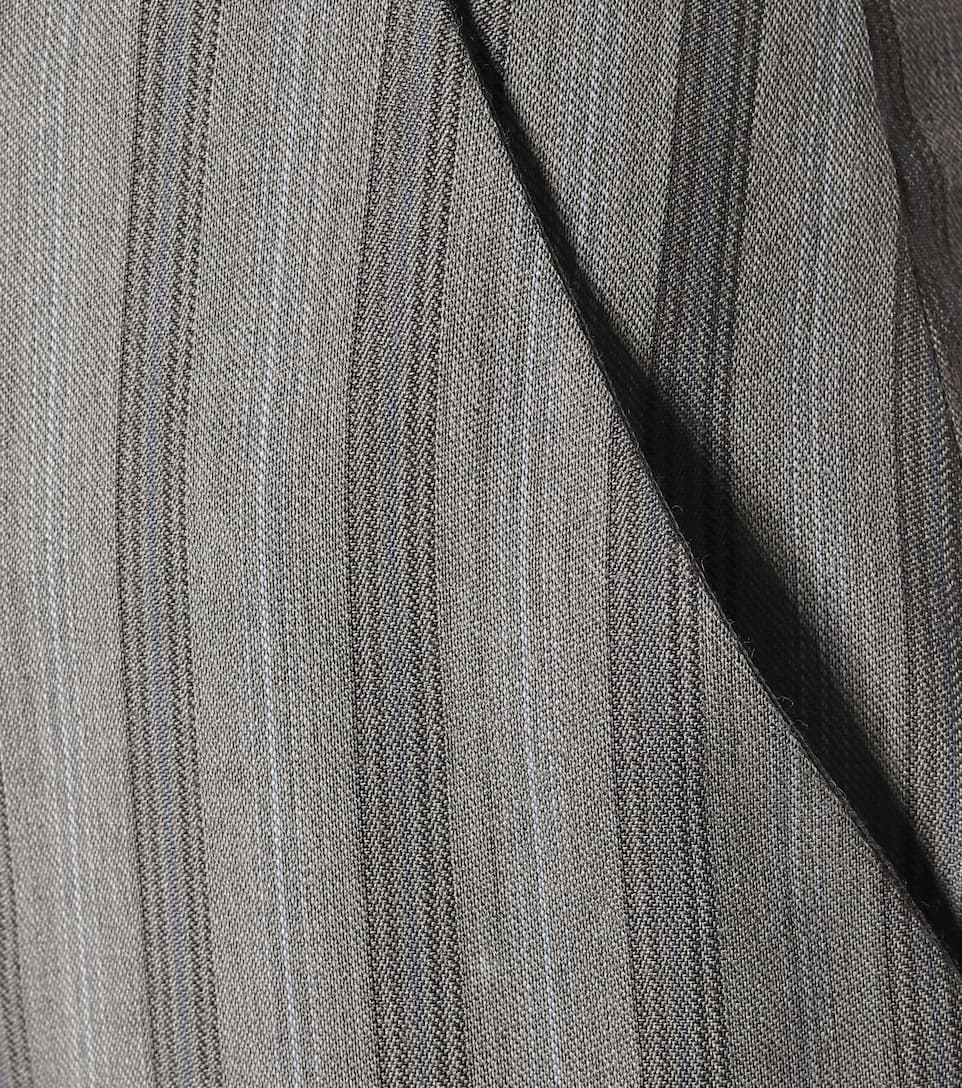 Striped Wool High-Rise Pants - Acne Studios