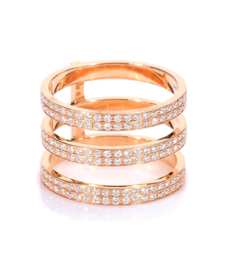 Bague En Or Rose 18 Ct Et Diamants Blancs Berbère Monotype ¦ Repossi ∫ mytheresa.com