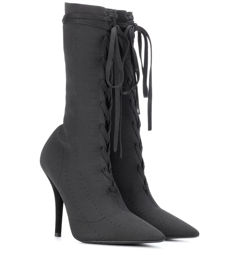 9547bc0a2ee2f Lace-Up Knit Ankle Boots (Season 5) - Yeezy