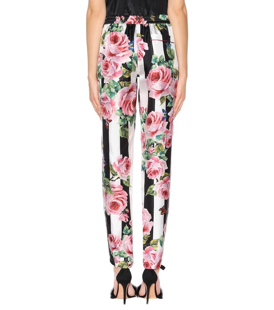 Pantalon En Soie Dolce &; Gabbana Avec Imprimé