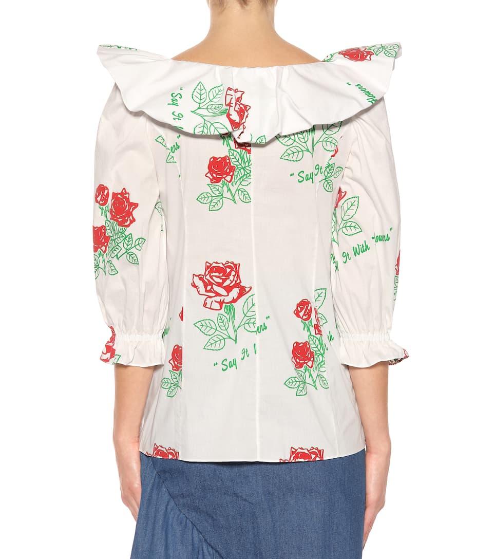 Rosie Assoulin Bluse aus Baumwolle