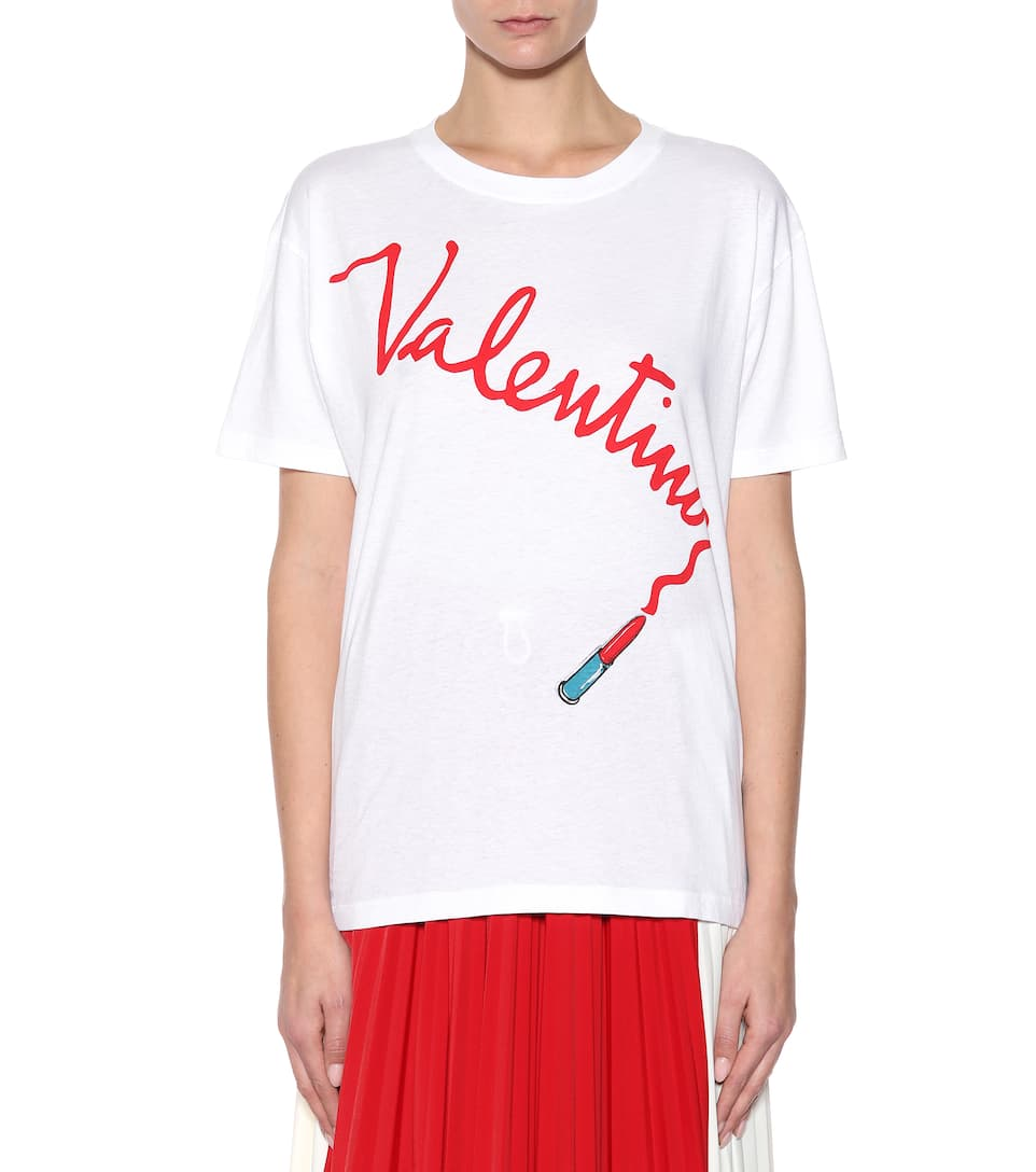 Valentino Printed T-shirt Made Of Cotton