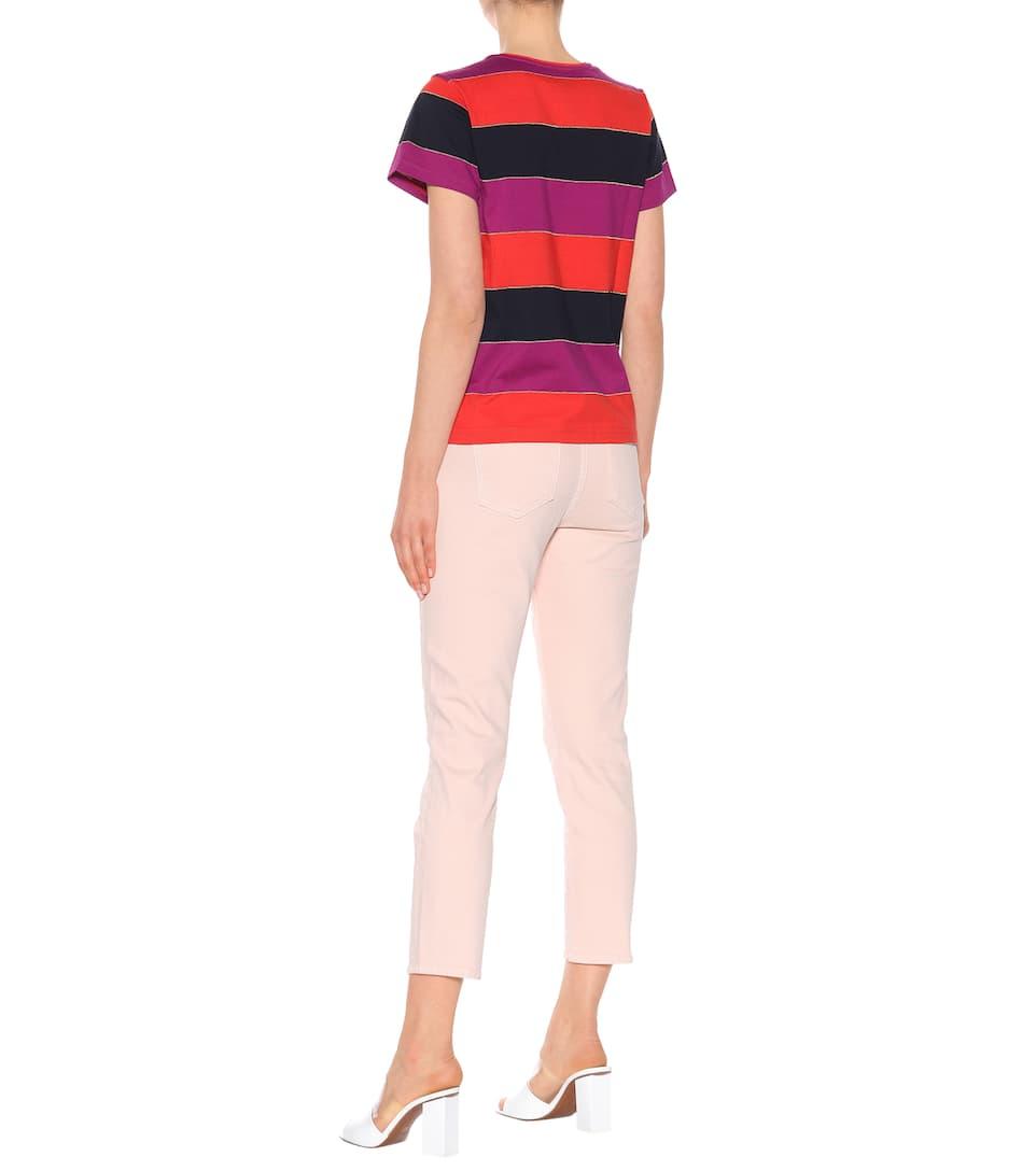 A.P.C. Gestreiftes T-Shirt Millbrook aus Baumwolle
