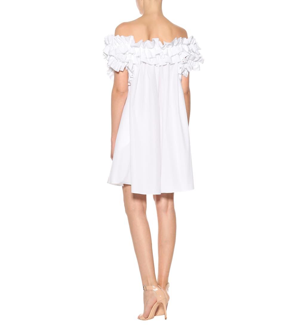 Spielraum Kosten Strapazierfähiges Alexander McQueen Off-Shoulder-Kleid aus Baumwolle Liefern Billige Online Spielraum Neu 44FGyCVaB