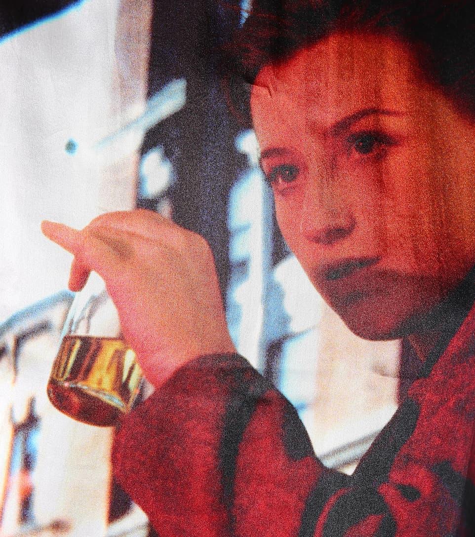 Undercover Wendbarer bedruckter Pullover mit Seidenanteil