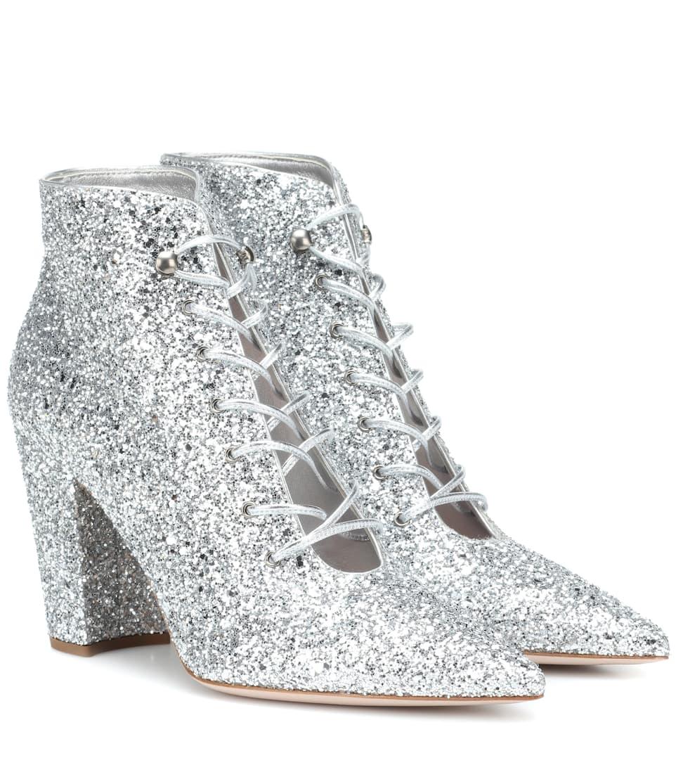 bcc7ed589d7c Glitter Ankle Boots - Miu Miu