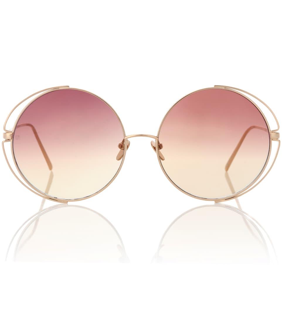 2b54b286e84 816 C8 Round Sunglasses - Linda Farrow