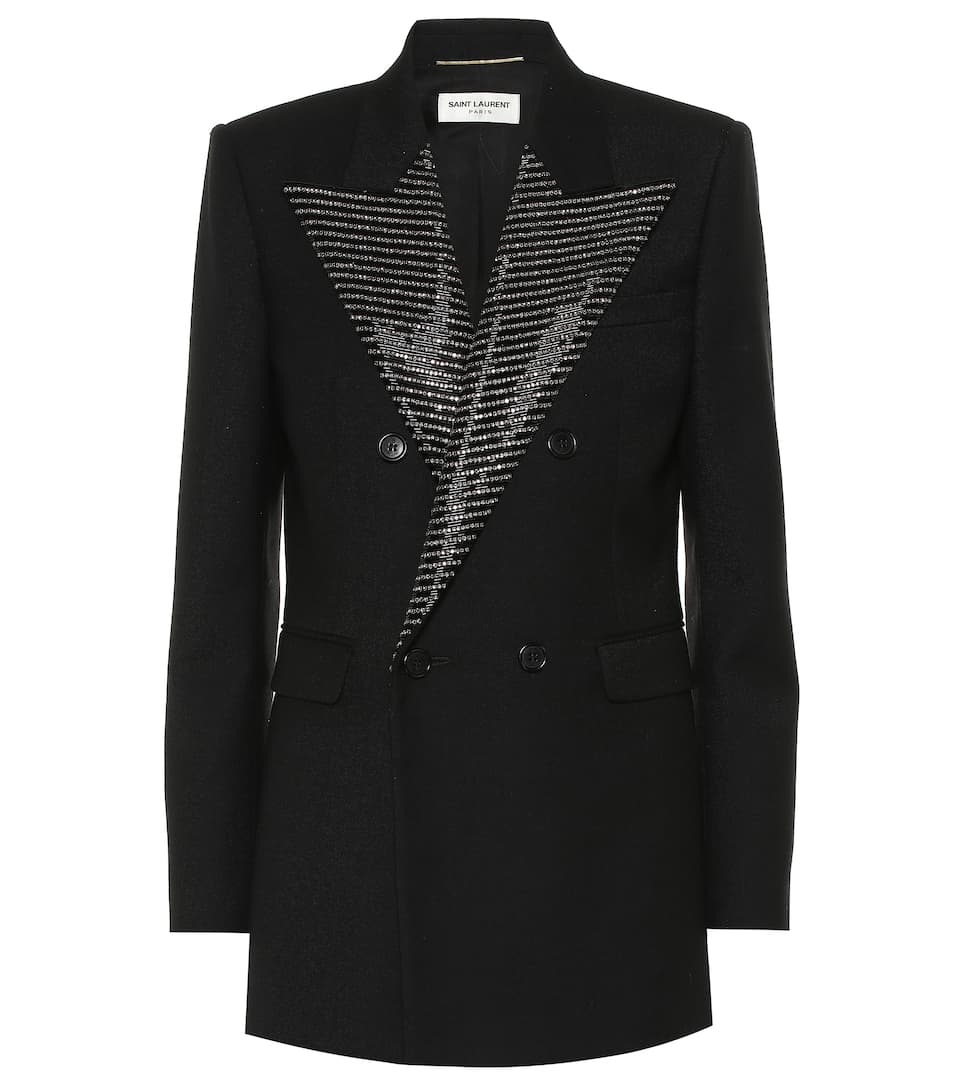 125c27a873d Embellished Wool Blazer - Saint Laurent | mytheresa.com