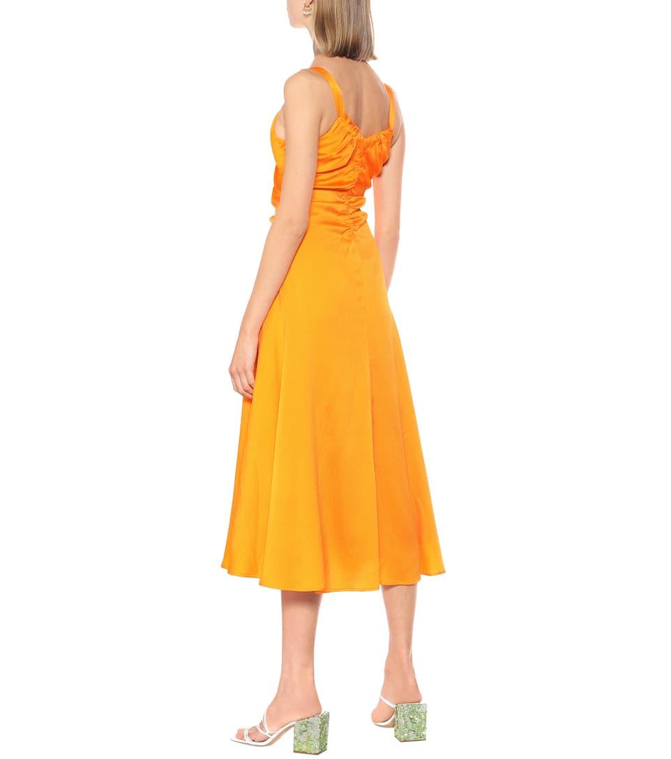 Toni Hammered Silk-Satin Dress - Rejina Pyo