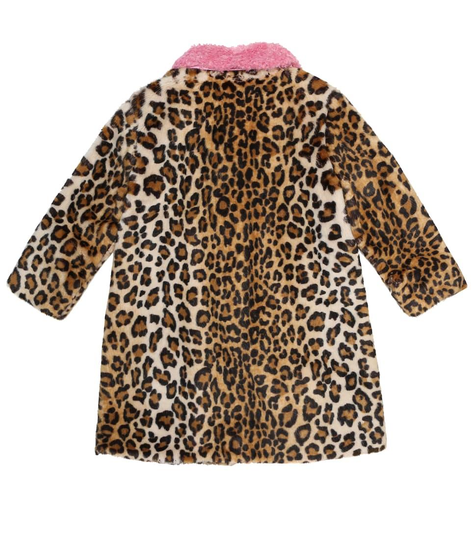 Mini Rodini Beige & Brown E.T. Faux Fur Coat