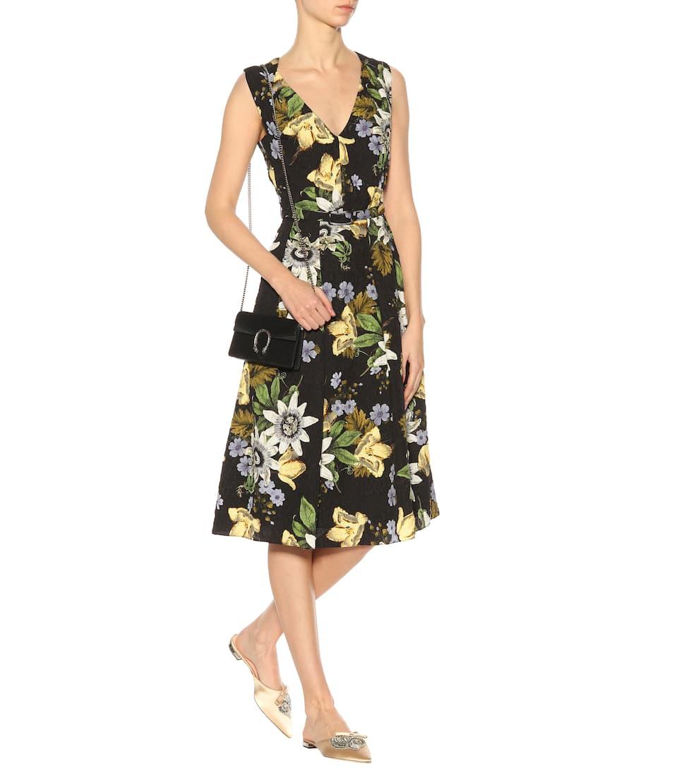 Erdem Ärmelloses Jacquard-Kleid Kuni