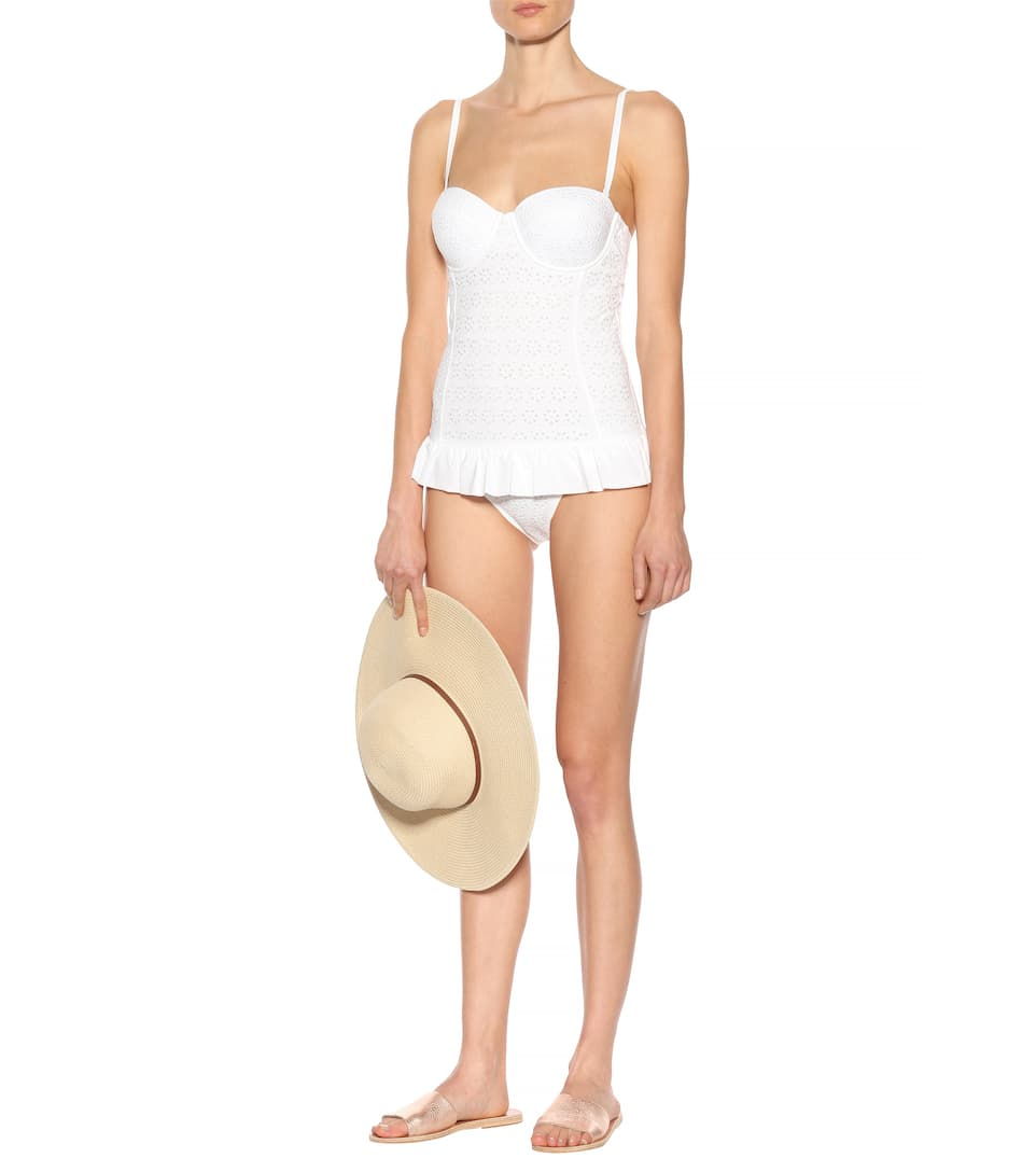Tory Burch Swimsuit Broderie Anglaise Flounce