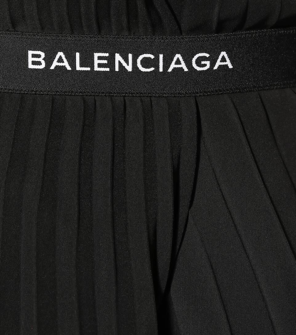 Balenciaga Plisseerock aus Crêpe