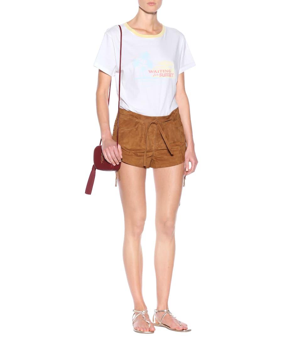 Saint Laurent Bedrucktes T-Shirt aus Baumwolle