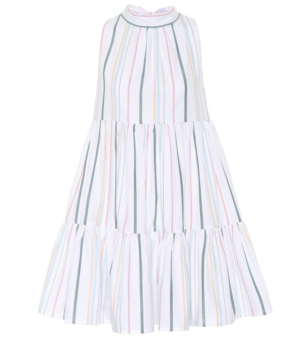 Asceno Gestreiftes Minikleid aus Baumwolle