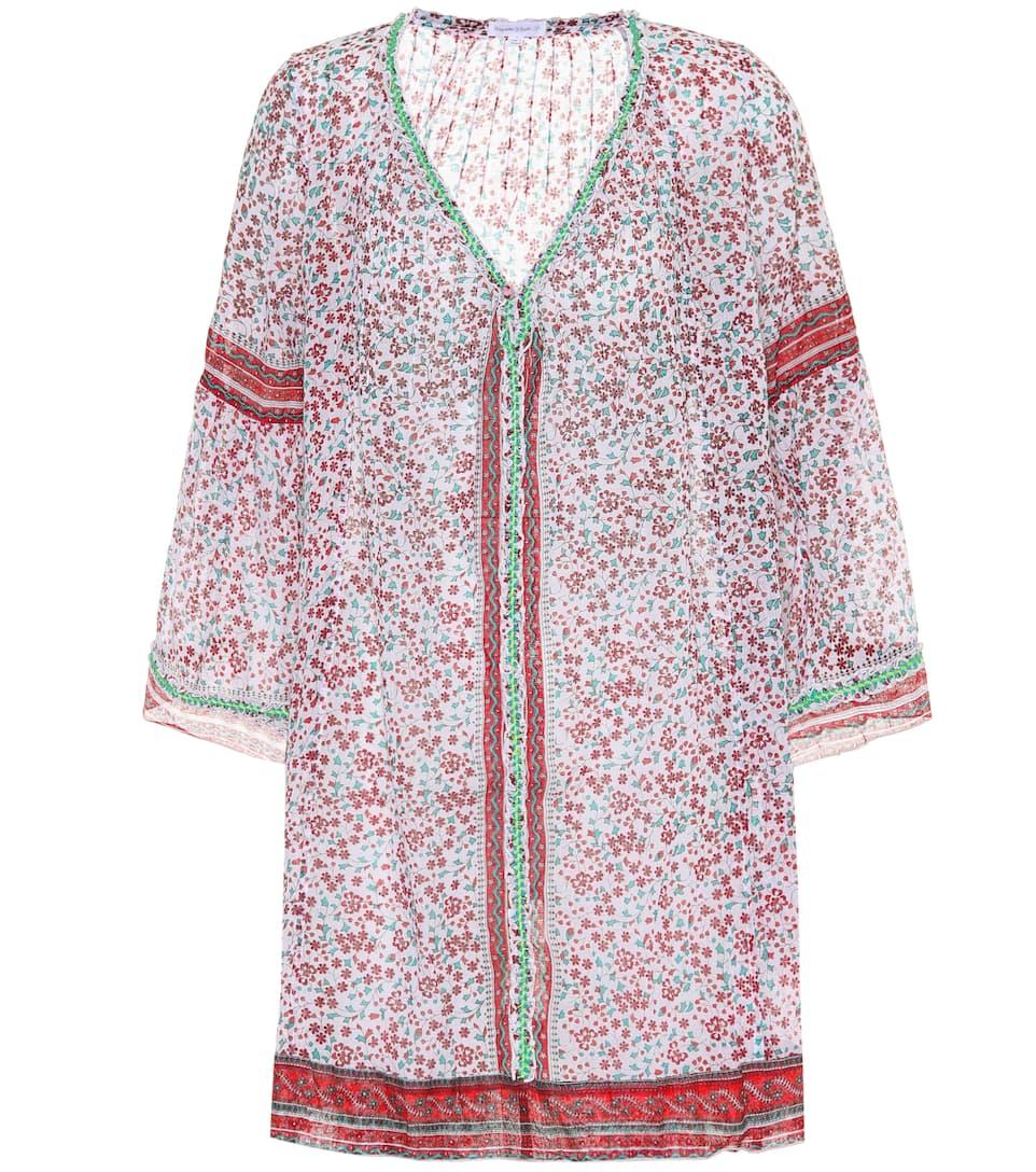 Pippa Rosa Poupette Jazmín algodón de Blanco St estampado vestido Barth ZErfw8nqE