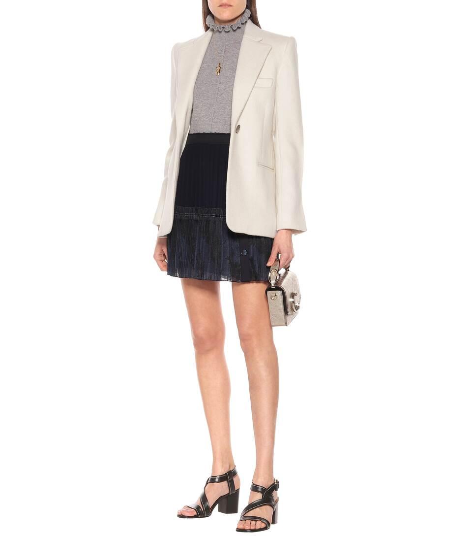 Chloé - Pleated silk miniskirt