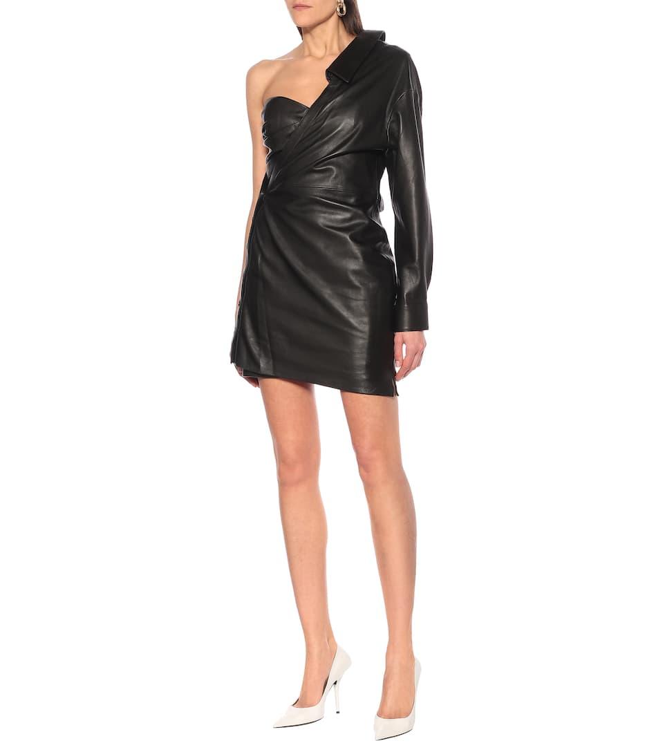 RtA - Lana one-shoulder leather minidress