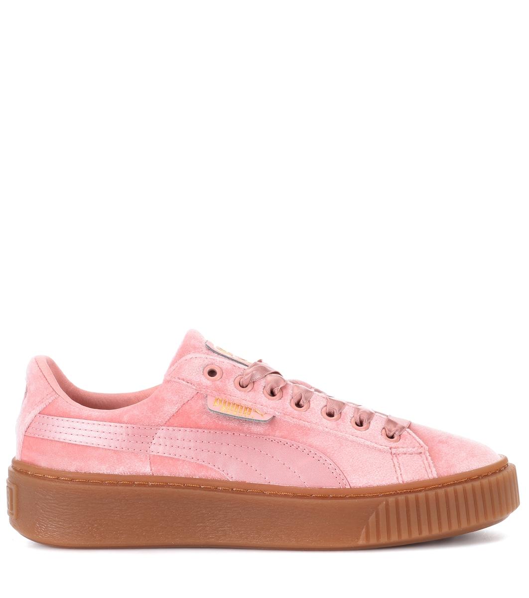 Basket Platform velvet sneakers