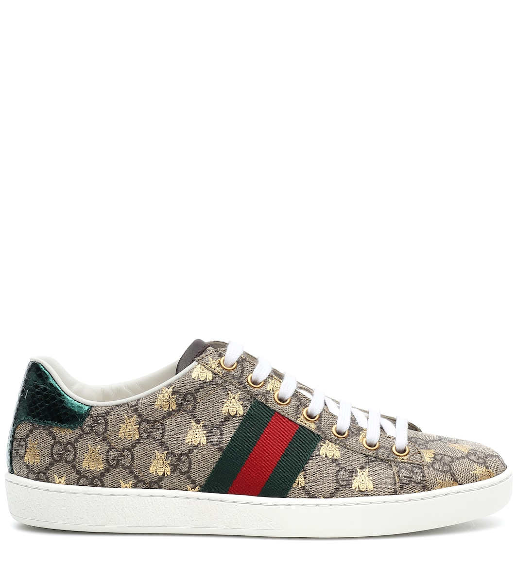 706d1f44c5406 Ace Leather-Trimmed Printed Sneakers