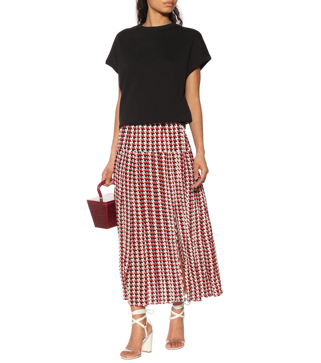 ae605c2625 Rixo - Tina silk midi skirt | Mytheresa