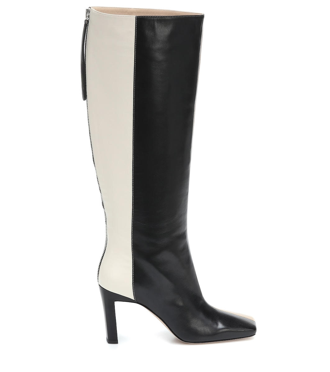 Isa leather knee high boots