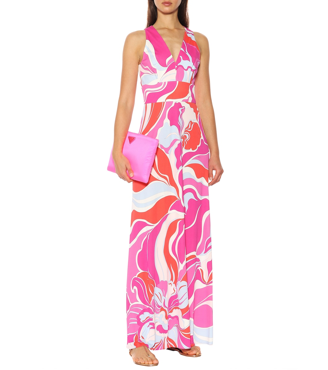 a11a2d885e9a Emilio Pucci - Printed silk-blend maxi dress | Mytheresa