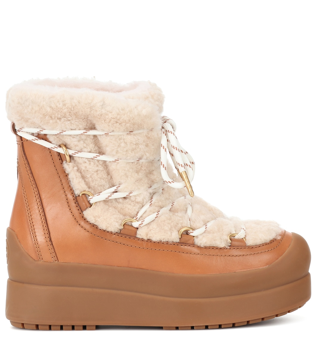 00602475f Tory Burch - Courtney 60mm shearling ankle boots