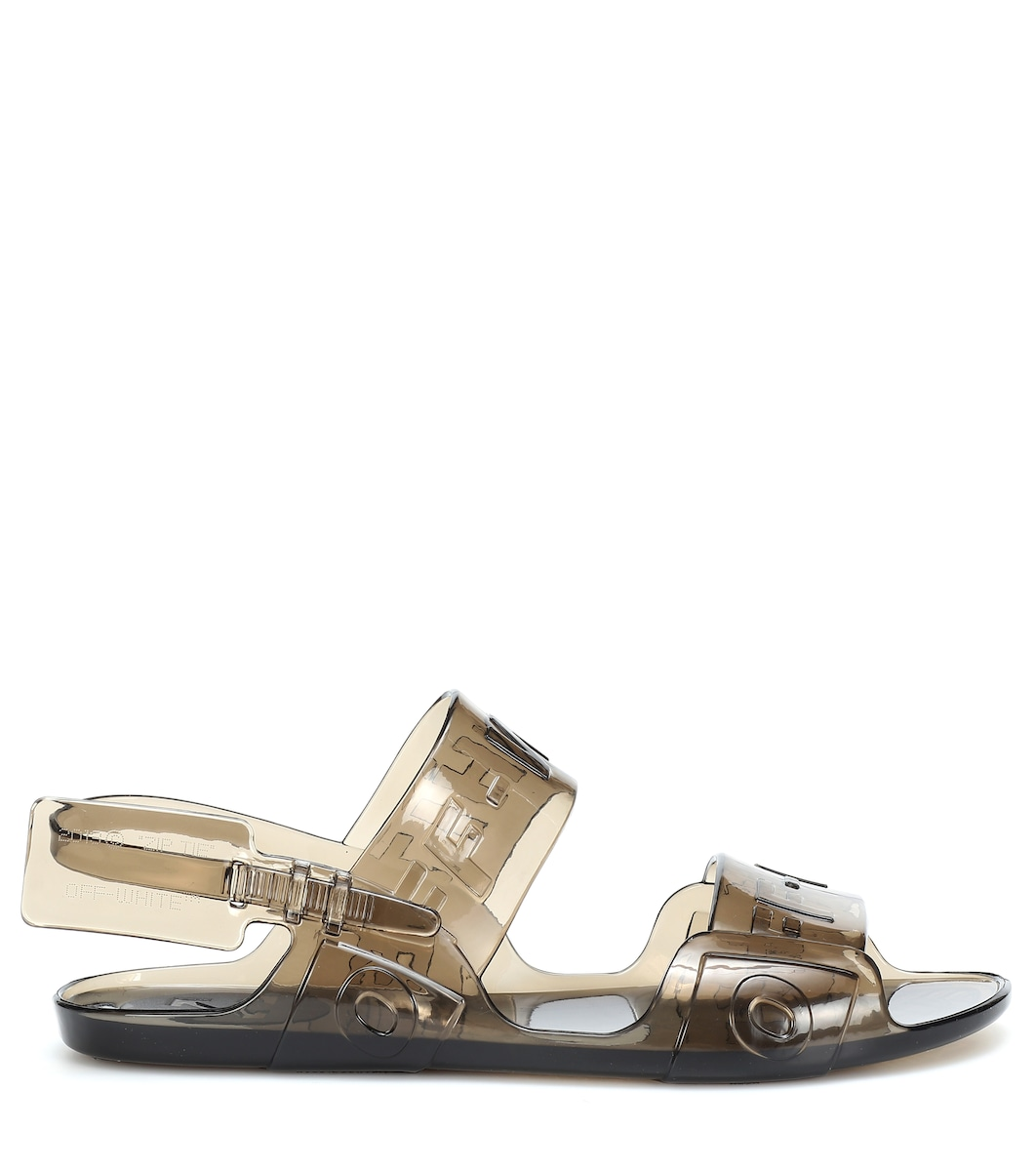 a540880a59d66 Zip Tie Jelly Sandals - Off-White | mytheresa.com