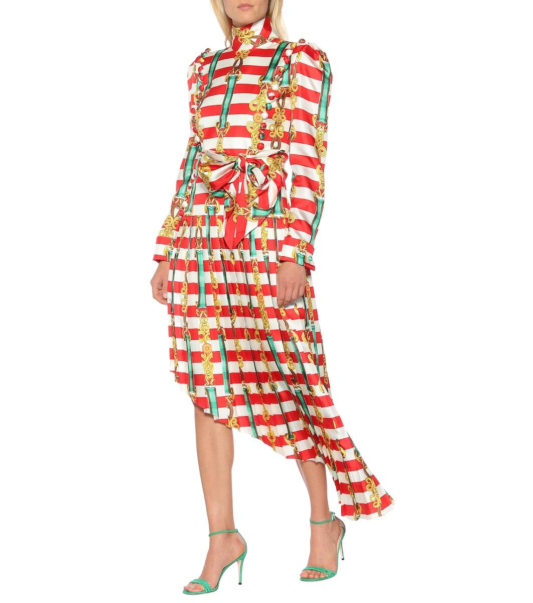 bfaee29586 Vestido De Seda Estampado - Gucci | Mytheresa