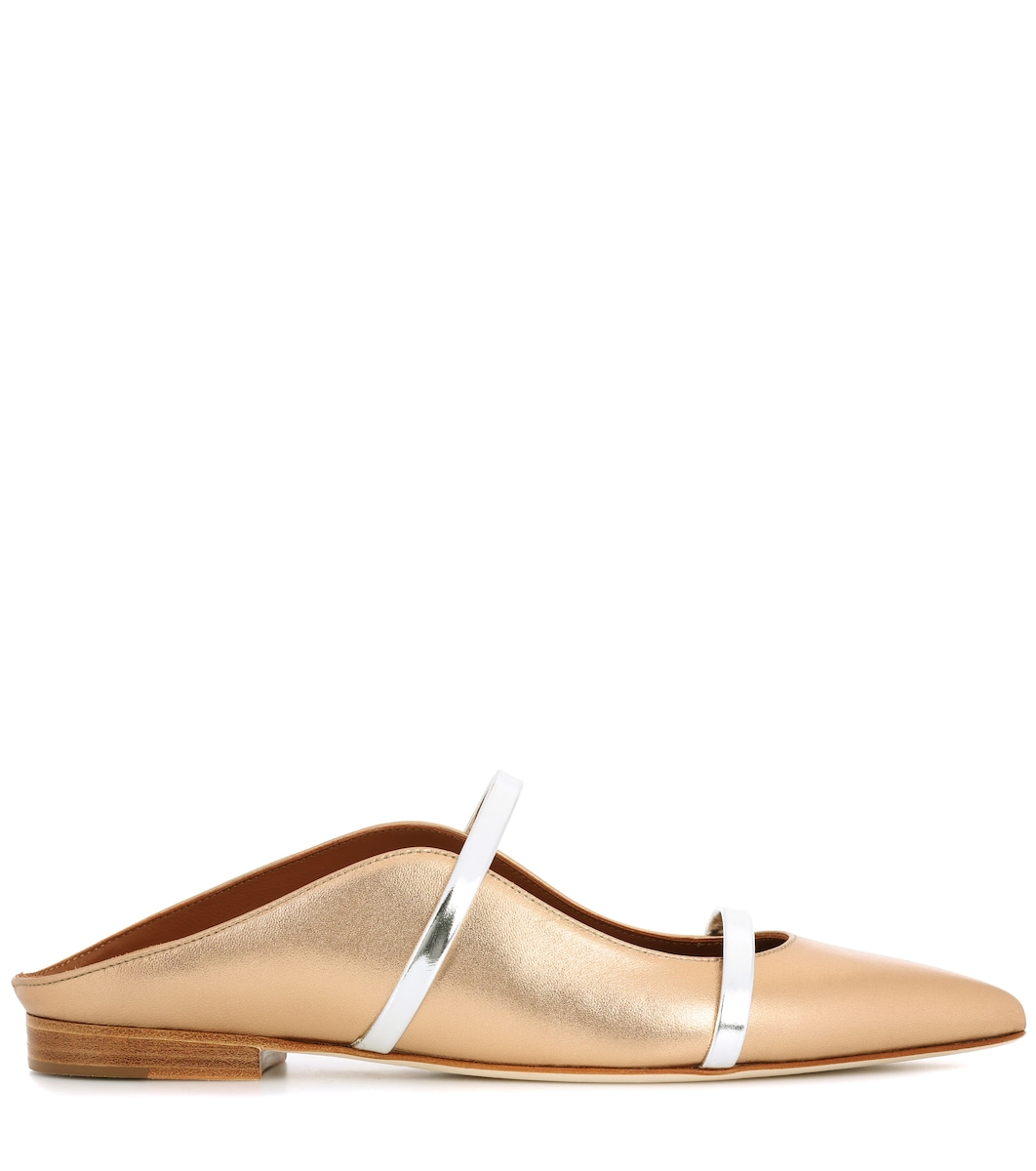 f3ad69630 Maureen Metallic Leather Slippers