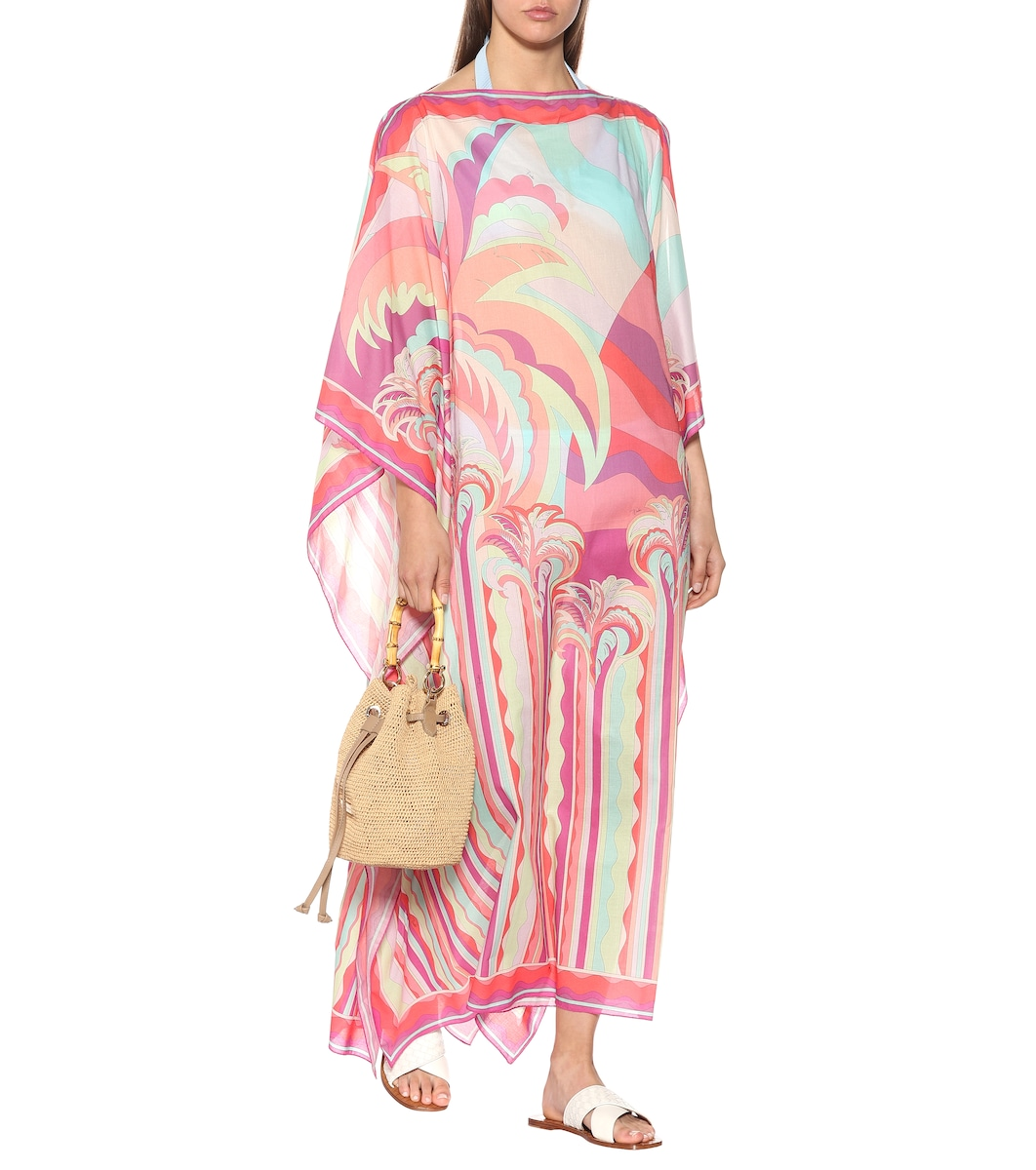 b7db407307 Printed Cotton Kaftan - Emilio Pucci Beach | mytheresa.com