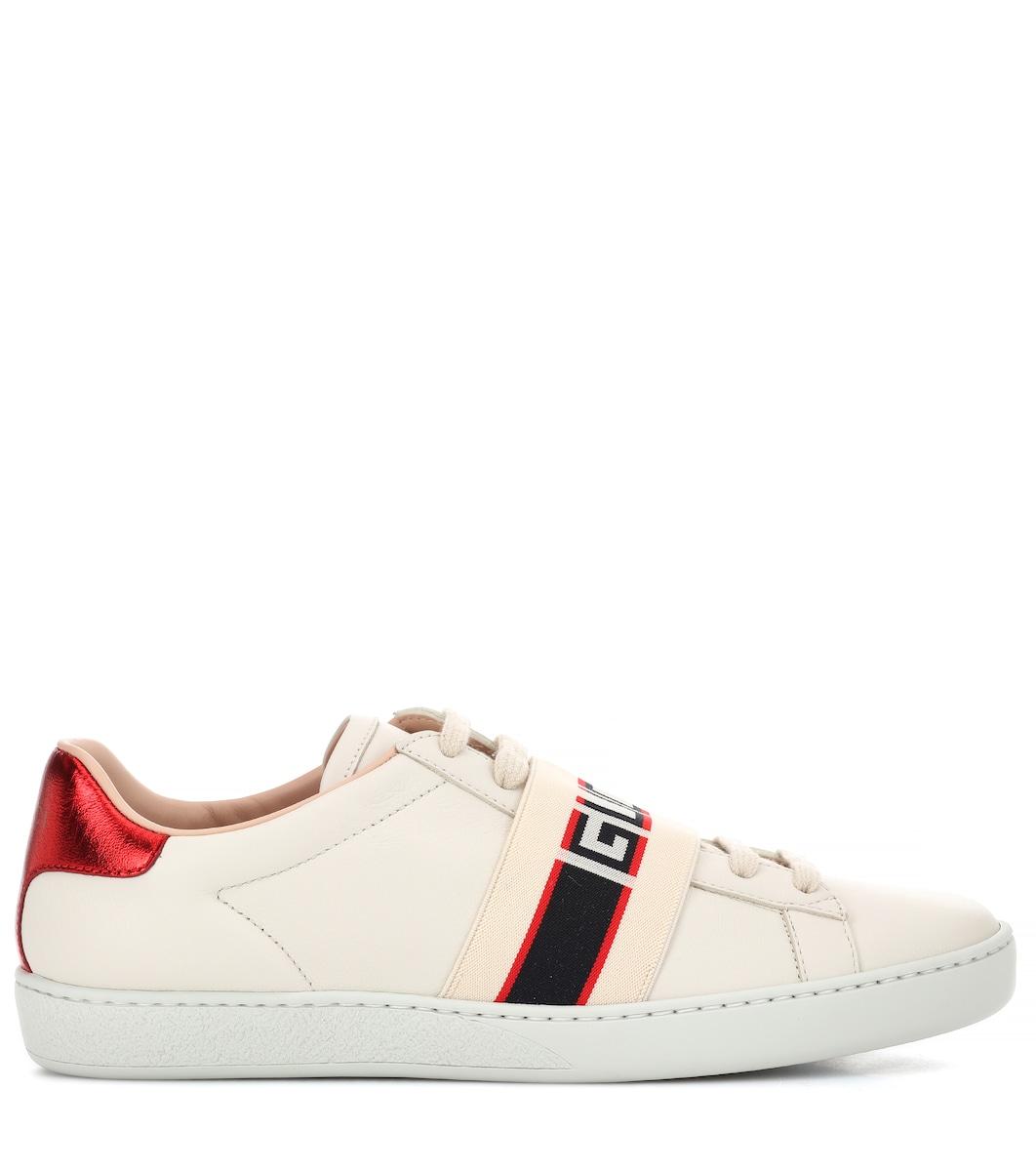f432b86984 Zapatillas De Piel Ace - Gucci