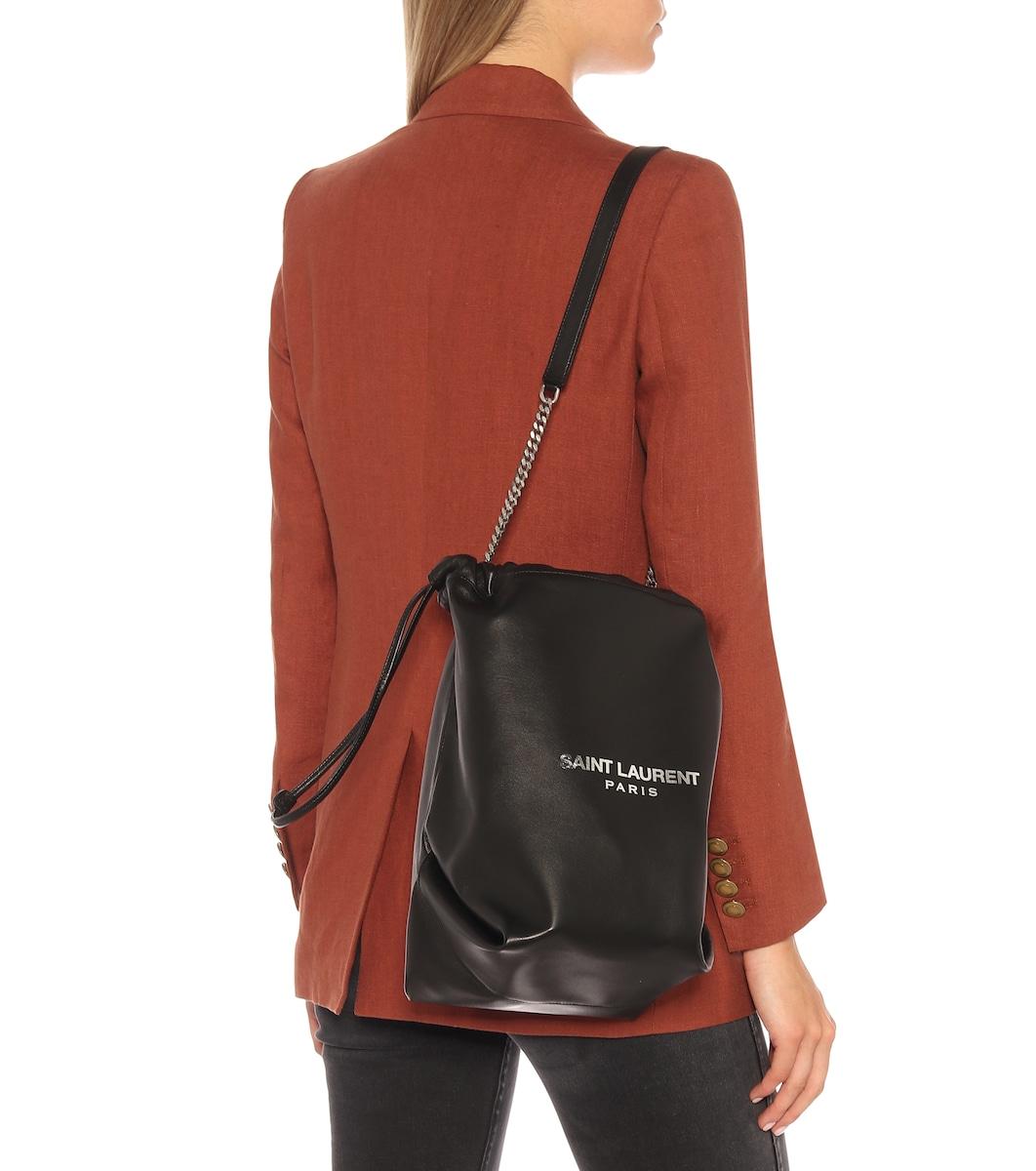 b8b34e6dba5 Teddy Leather Bucket Bag | Saint Laurent - mytheresa