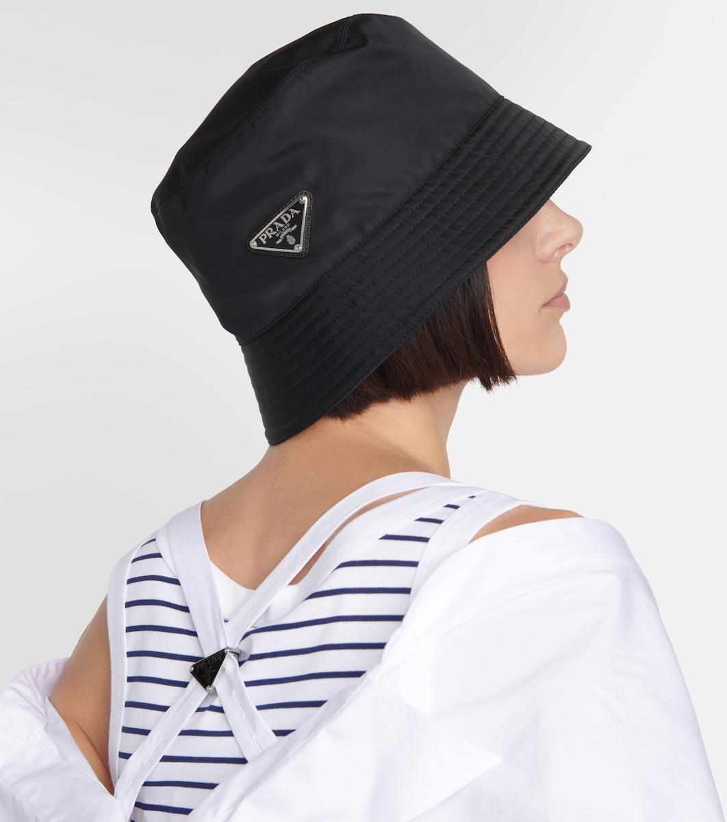 2622e009 Logo-Embellished Bucket Hat - Prada   mytheresa.com